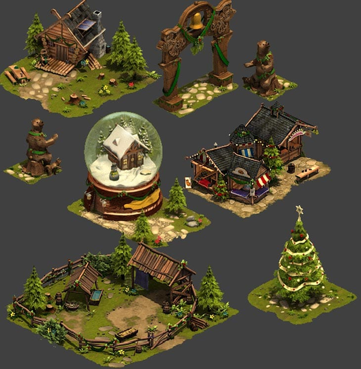 Forge-of-Empires-winter-event-decorations-buildings