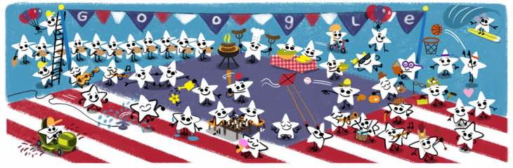 Fourth of July 2016 Google Doodle