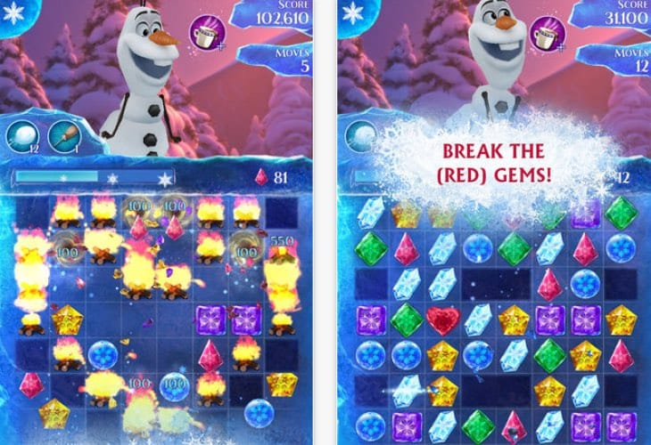 Frozen Free Fall iOS app update