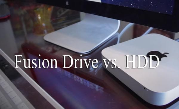 Fusion Drive vs. HDD in 2012 Mac mini review