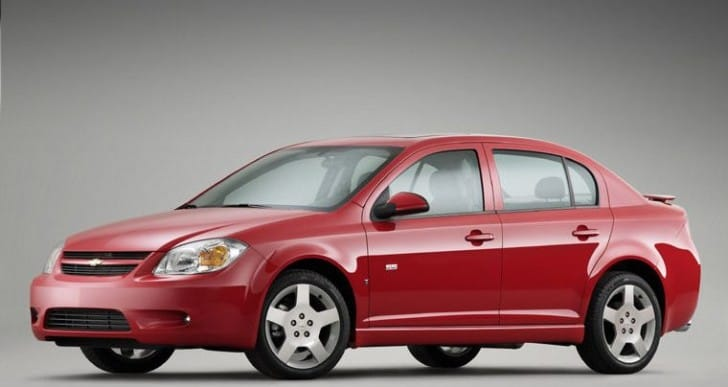 GM recall check for Chevrolet Cobalt and Pontiac G5