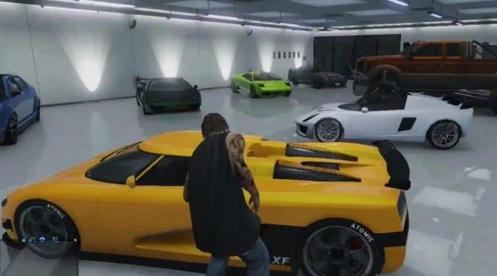 GTA V DLC will rearrange cars in garage