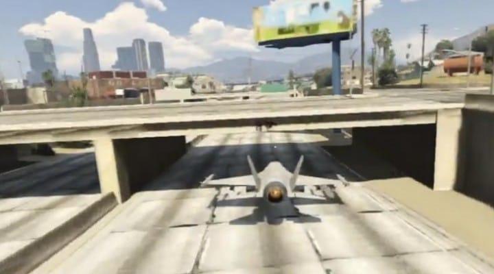 GTA V Jet stunts cheat with cuts