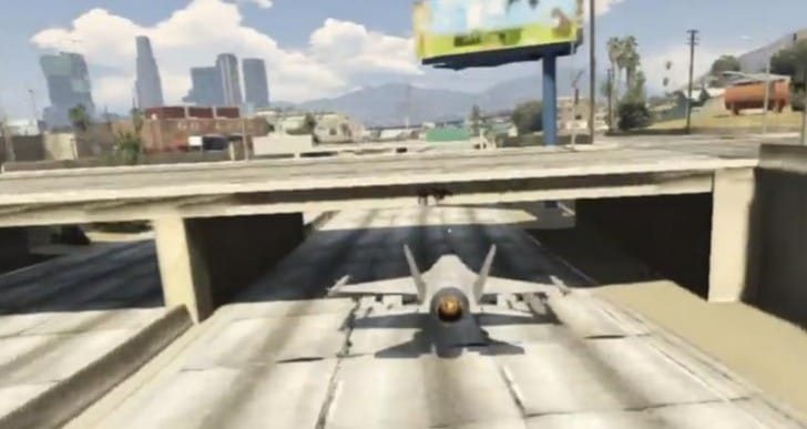 GTA V Jet stunts cheat with cuts