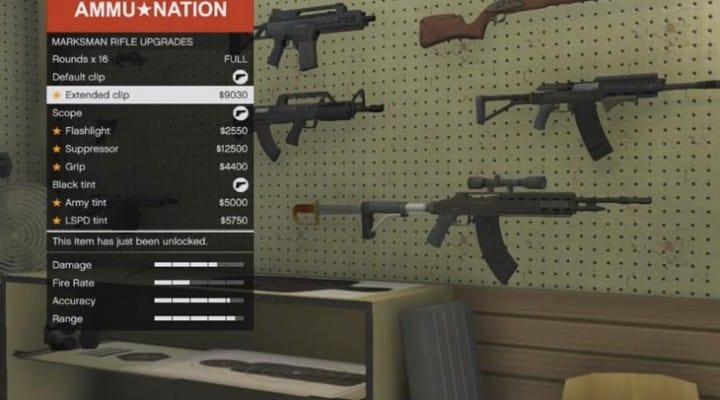 GTA V LTS update: Heavy Shotgun, Marksman Rifle upgrades