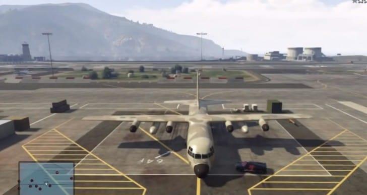GTA V Titan C-130 plane location at Fort