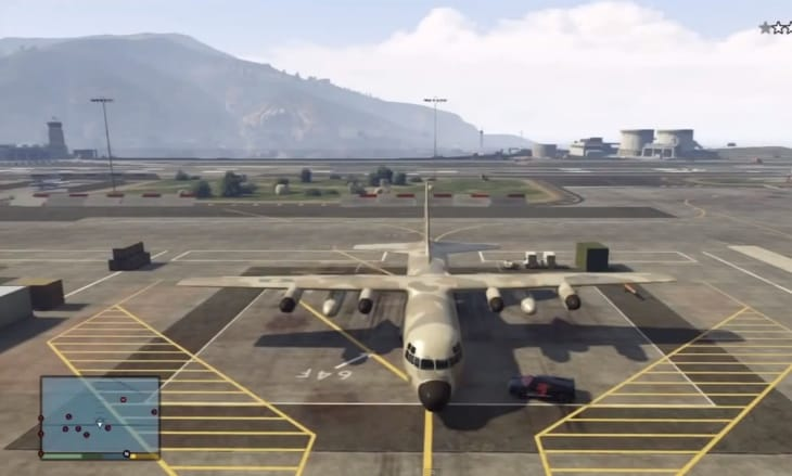 GTA V Titan C-130 plane location at Fort