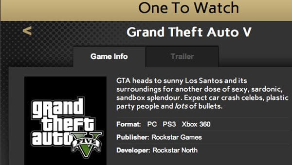 GTA V awarded without a release date