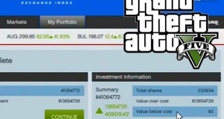 GTA V final heist equals billions with stocks