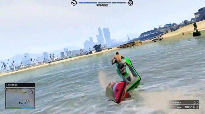 GTA V online racing gameplay