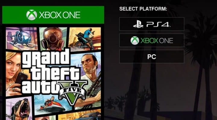 GTA V pre-order price for PC, PS4, XB1