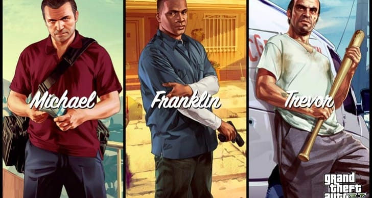 GTA V protagonist artwork finally on desktop