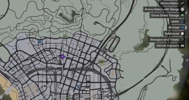 GTA V stunt jumps gain map locations
