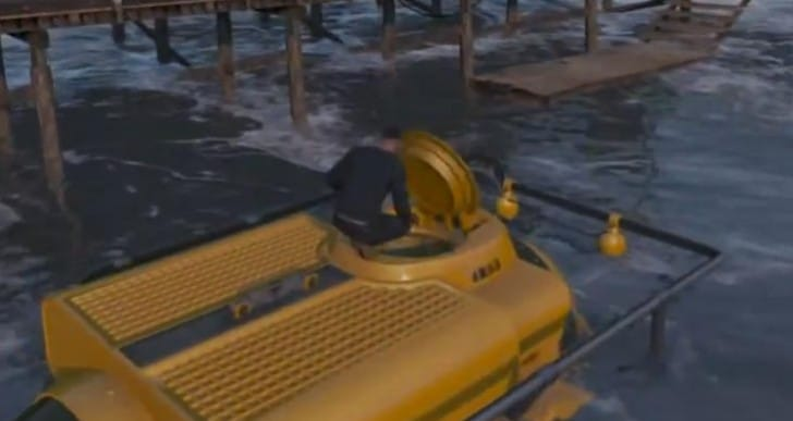 GTA V underwater weapons, aliens and submarine