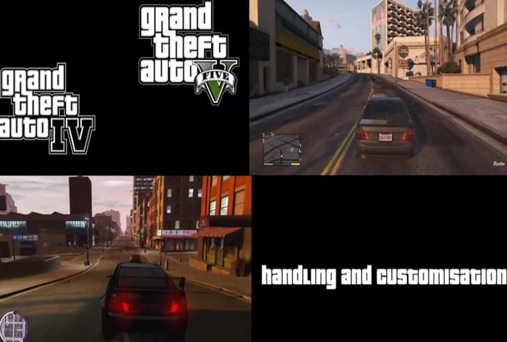 GTA V vs. GTA IV graphics, map and driving