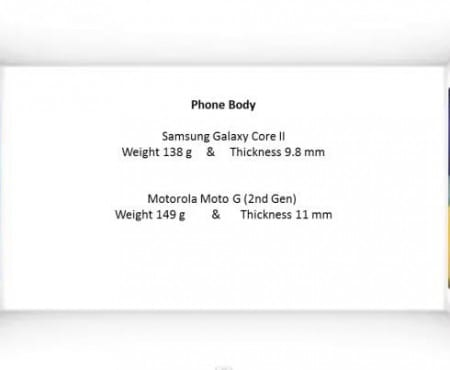 Galaxy Core 2 vs Moto G 2nd gen India specs decider