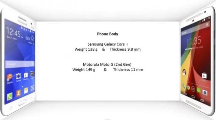 Galaxy Core 2 vs Moto G 2nd gen India specs decider