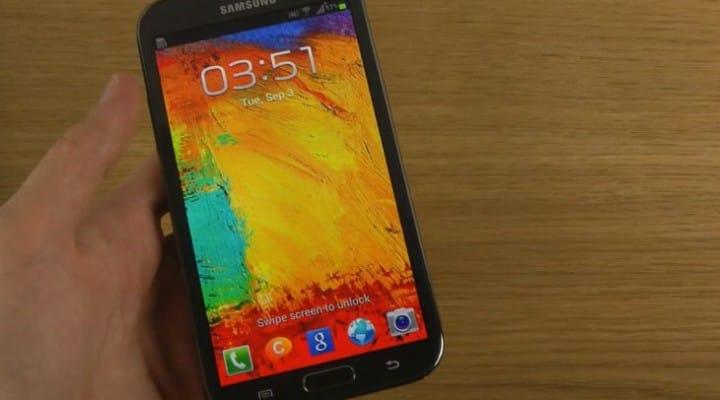 Galaxy Note 3 lockscreen wallpaper on Note 2