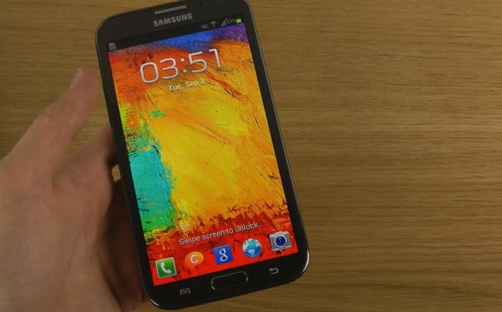 Galaxy Note 3 lockscreen wallpaper on Note 2