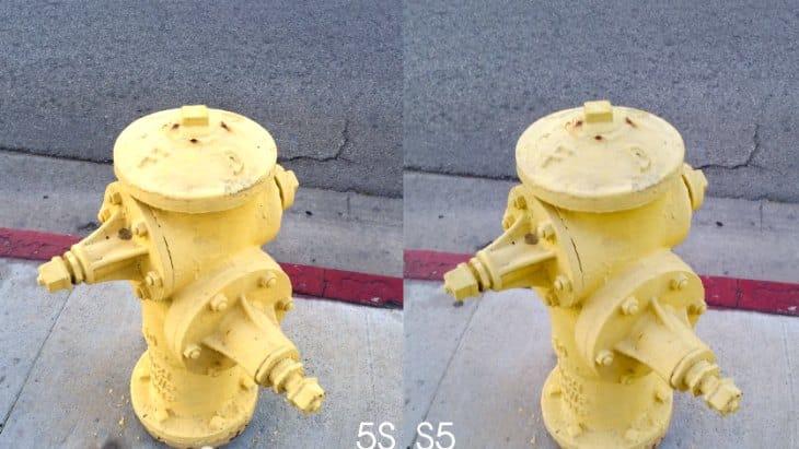 Galaxy S5 vs. iPhone 5S camera