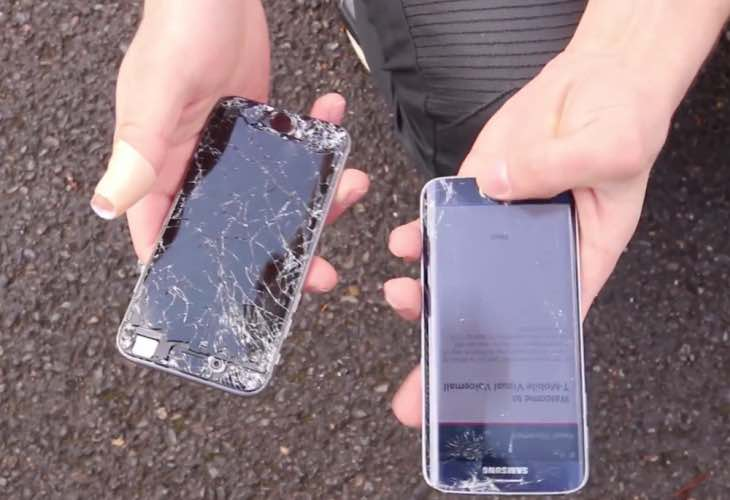 Galaxy S6 Edge vs iPhone 6 drop test