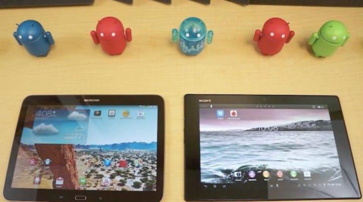 Galaxy Tab 3 10.1 vs. Xperia Tablet Z and Nexus 10