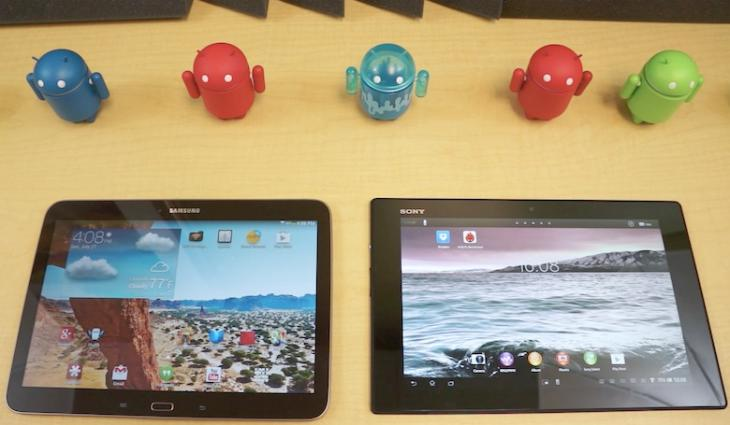 Galaxy Tab 3 10.1 vs. Xperia Tablet Z and Nexus 10