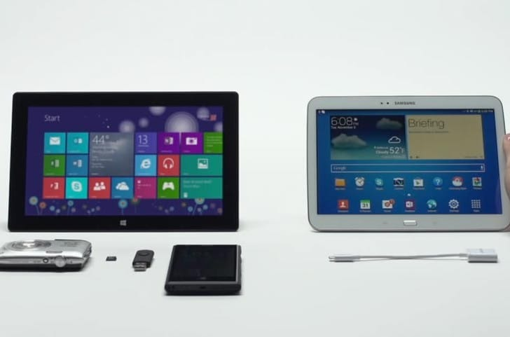 Samsung Galaxy Tab 3 vs. Surface RT divides consumers