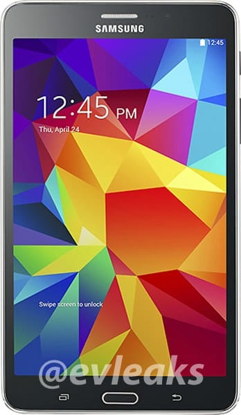 Galaxy Tab 4 7.0 visual teases
