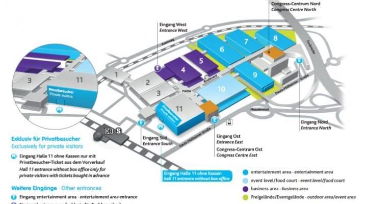 Gamescom 2014 exhibitors and map via app