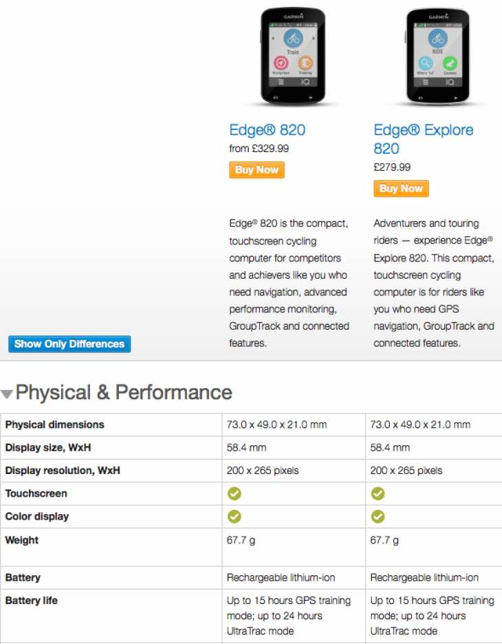 Garmin Edge Explore 820 Vs Edge 820