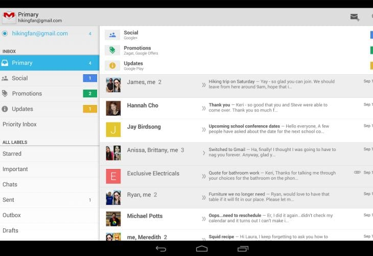 Gmail for Android update with 6 new features
