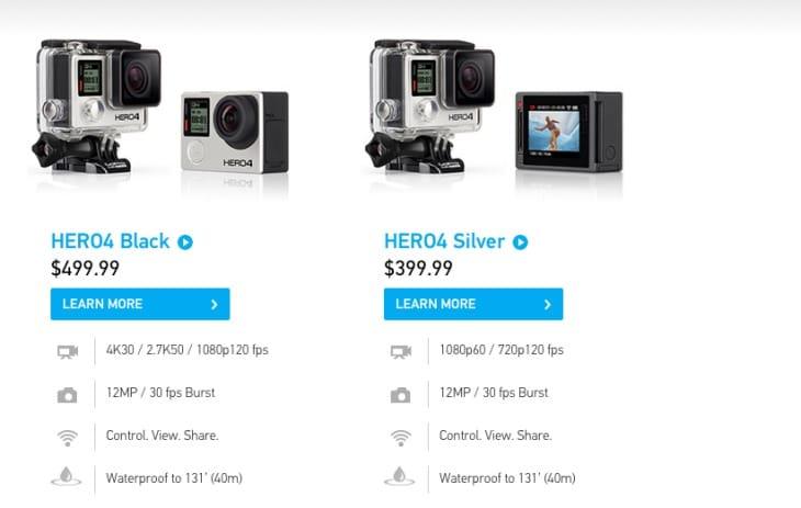 GoPro HERO4 specs