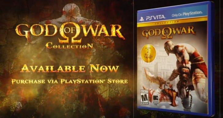 God of War Collection live on PS Vita