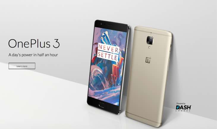 Gold OnePlus 3 release in hours