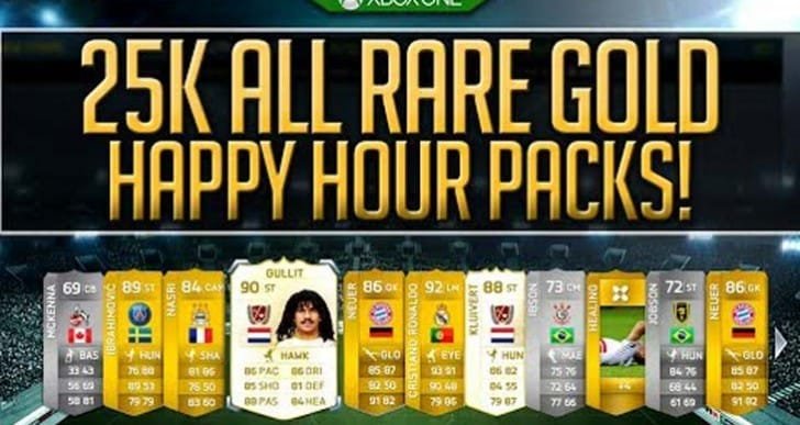 FIFA 15 FUT entice rare gold 25K packs in March
