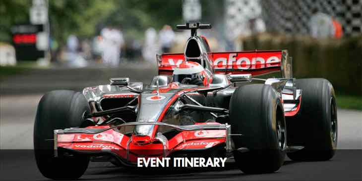 Goodwood Festival of Speed itinerary