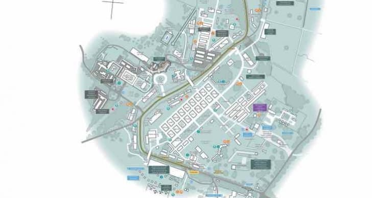 Goodwood Festival of Speed map for 2015 event