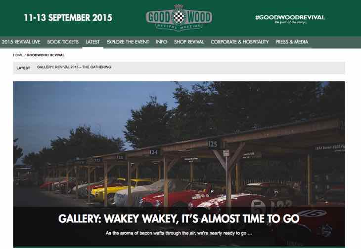 Goodwood Revival 2015 last minute