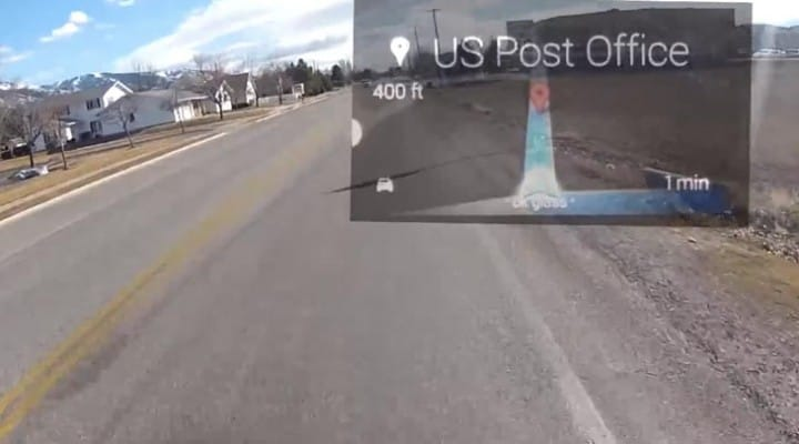 Google Glass GPS on a motorcycle