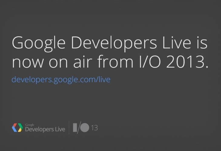 Google I:O 2013 keynote live stream, video and blogs