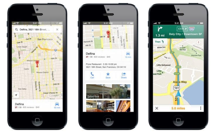 Google Maps optimized for iOS 8