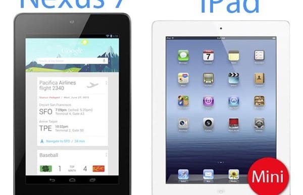 Google Nexus 7 vs. Apple iPad mini before event