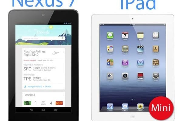 Google Nexus 7 vs. Apple iPad mini before event