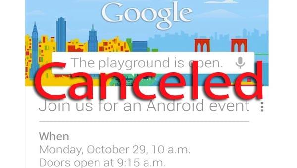 Hurricane Sandy projected path halts Google's Oct 29 event
