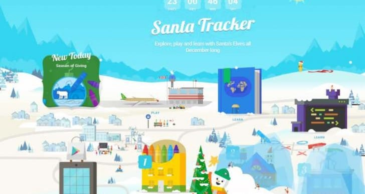 Google and NORAD Santa Tracker 2015 countdown live