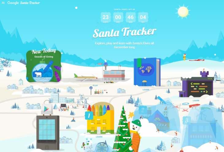 Google Santa Tracker 2015 live