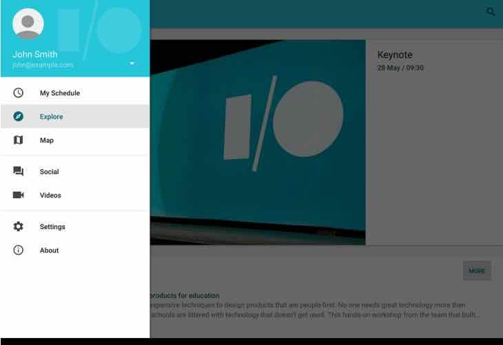 Google updates I:O 2015 app