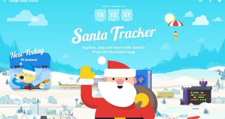 Today's Google and NORAD Santa Tracker games for 2016