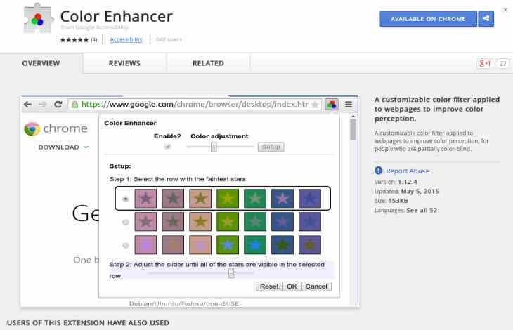 Goolge Chrome Color Enhancer